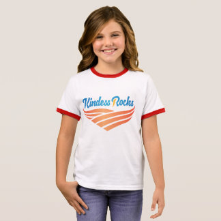 Kindness Rocks Girls Ringer T-Shirt
