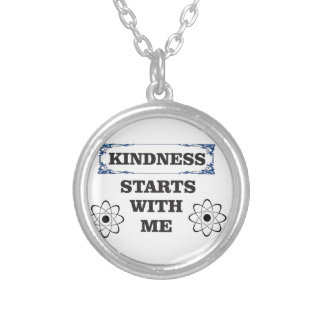 kindness starts with me silver plated necklace