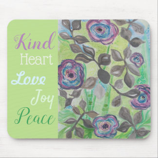 Kindness with Speckle Flower Abstract Mouse Pad