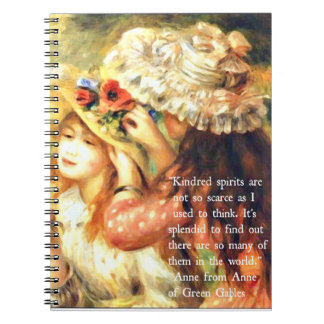 Kindred Spirits - Anne of Green Gables Quote Spiral Notebook