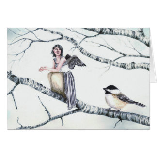 """Kindreds - Chickadee"" by Deanna Bach Art Card"