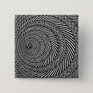 Kinetic Black and White Mandala Badge