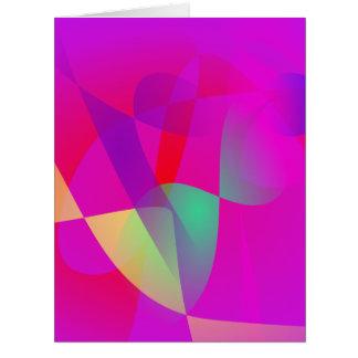 Kinetics Vivid Pink Greeting Card