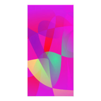 Kinetics Vivid Pink Customized Photo Card