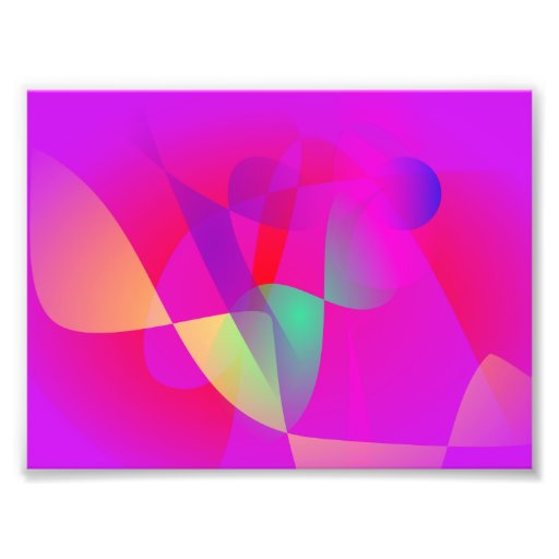 Kinetics Vivid Pink Photographic Print