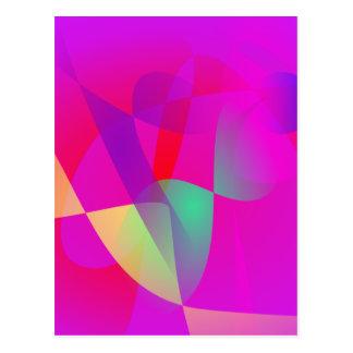 Kinetics Vivid Pink Postcard
