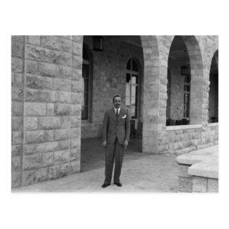 King Alfonso XIII of Spain at King David Hotel, Je Postcard