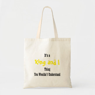 King and I Tote Bag