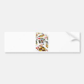 King and queen card bumper sticker