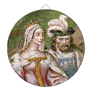 king and queen couple dartboard