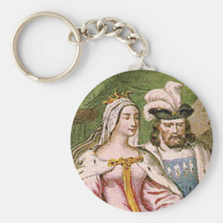 king and queen couple key ring