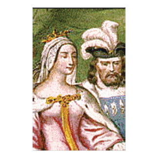 king and queen couple stationery