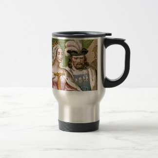 king and queen couple travel mug