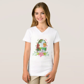King and Queen Girls' Fine Jersey V-Neck T-Shirt