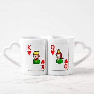 King and Queen Lovers' Mug Set Lovers Mug Sets
