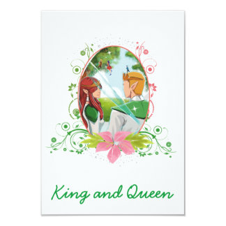"King and Queen Matte 3.5"" x 5"" Invitation Card"