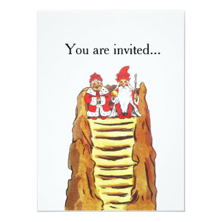 King and Queen of Gnomes 5.5x7.5 Paper Invitation Card
