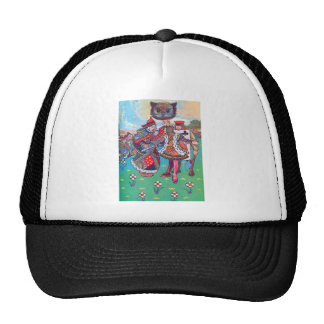 King and Queen of Hearts and the Cheshire Cat Cap