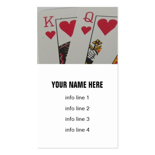 king and queen of hearts business card templates  zazzle