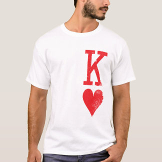King and Queen of Hearts Playing Cards Couples T-Shirt