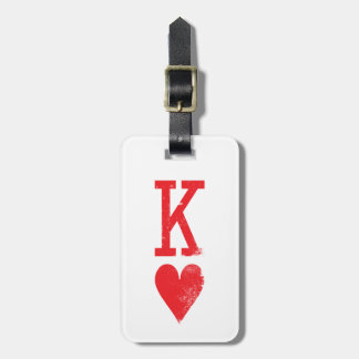 King and Queen of Hearts Playing Cards Couples Tag For Luggage