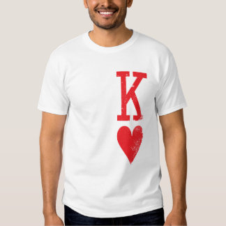 King and Queen of Hearts Playing Cards Couples Tee Shirts