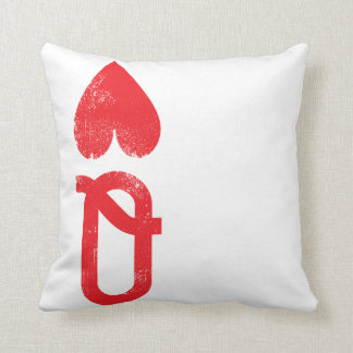 King and Queen of Hearts Playing Cards Couples Throw Pillow