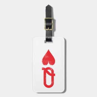 King and Queen of Hearts Playing Cards Couples Travel Bag Tags