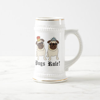 KIng and Queen Pug Mugs
