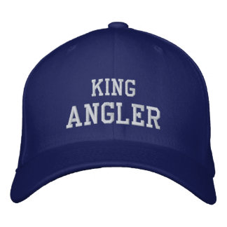 KING, ANGLER EMBROIDERED HAT