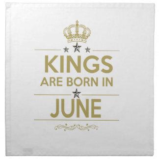 king are born in june napkin