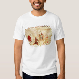 King Arthur on his Throne Surrounded T Shirt