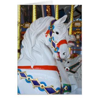 King Arthur's Carousel Horse Card