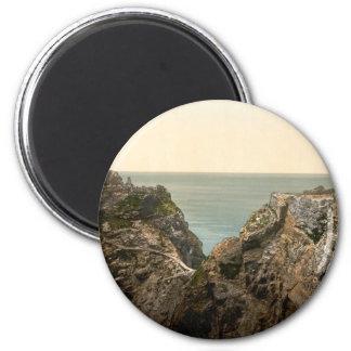 King Arthur's Castle II, Tintagel, Cornwall 6 Cm Round Magnet