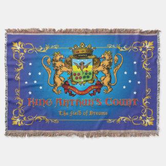 king Arthur's Court throw blanket