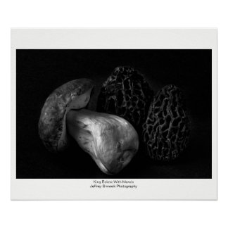 King Bolete With Morels Poster
