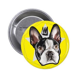 King Boston Terrier Cute 6 Cm Round Badge