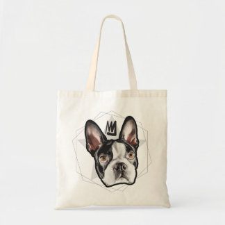 King Boston Terrier Tote Bag