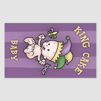 King Cake Baby Rectangle Sticker