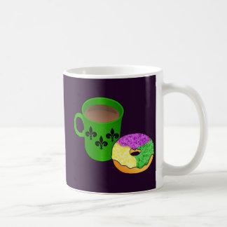 King Cake Donut and Coffee Mug