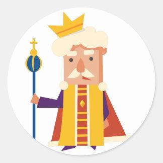 King Cartoon character Classic Round Sticker