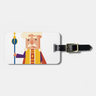 King Cartoon character Luggage Tag