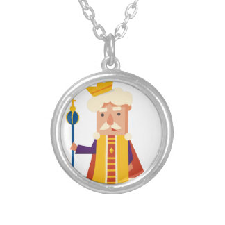 King Cartoon character Silver Plated Necklace