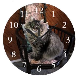 King Cat Kimber Numbered Wall Clock