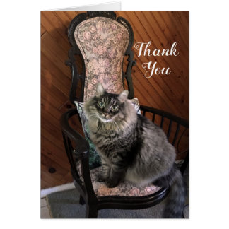 King Cat Kimber Thank You Note Card