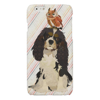 King Cavalier & Little Amber Owl Glossy iPhone 6 Case