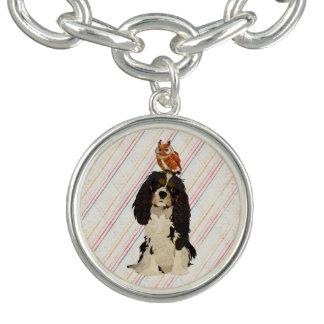 King Cavalier & Little Owl Charm Bracelet