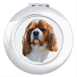 King Charles Cavalier Spaniel Dog Face, Travel Mirror