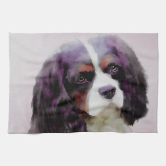 King Charles Spaniel Tea Towel