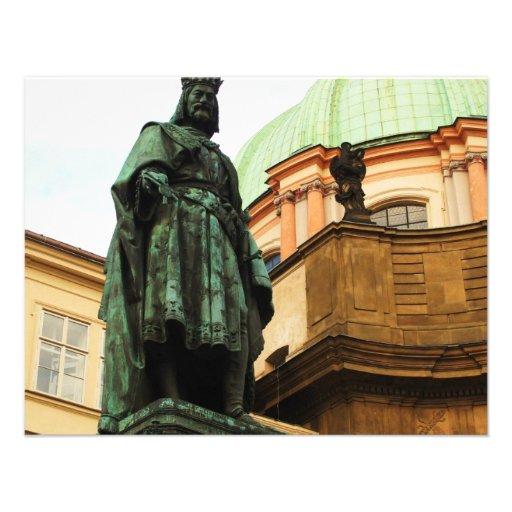 King Charles statue, Prague Custom Announcement